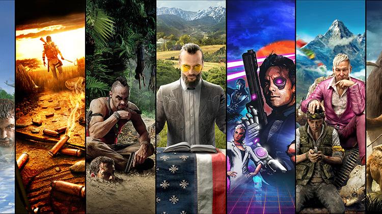Portadas de los distintos Far Cry
