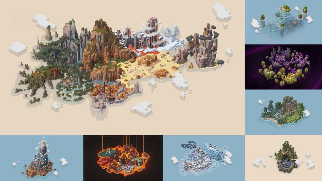 Collage de Minecraft Dungeons