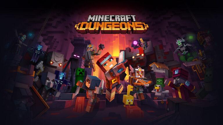 Portada de Minecraft Dungeons